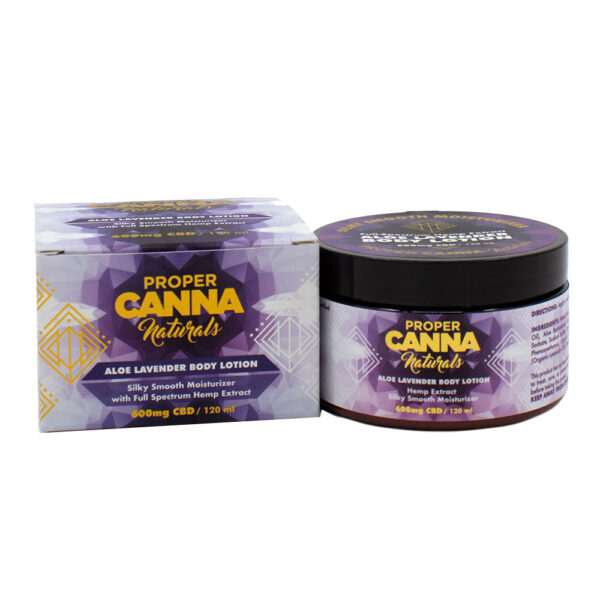aloe lavender hemp body lotion
